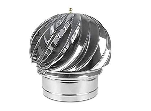 Kaminaufsatz säurebeständigen Edelstahl drehbarer Kugelaufsatz Schornsteinaufsatz Lüftungsaufsatz Ofen (200mm)