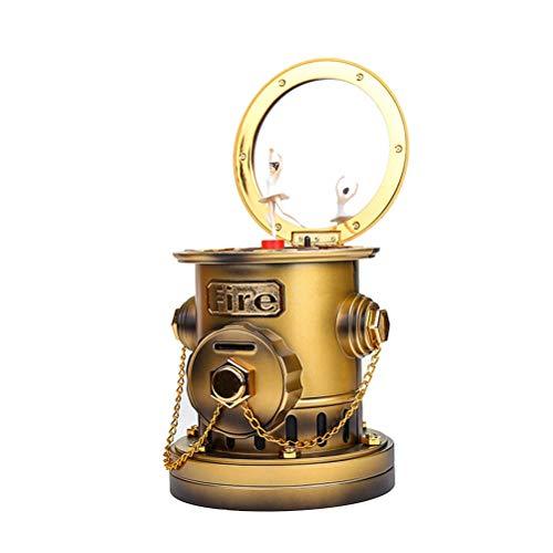 SUPVOX Spieluhren Hydrant Form Wind Up Spieldose Musikbox Spardose Geburtstag Geschenk Tisch Deko (Zufällige Farbe)