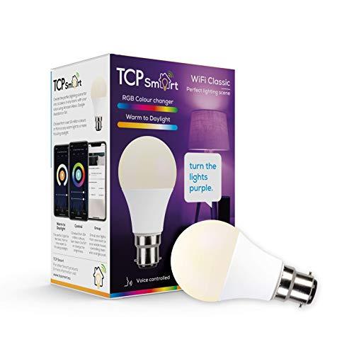 TCP Smart Wi-Fi LED Lightbulb Classic B22 Colour Tuneable White & Colour...