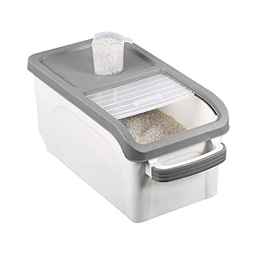 F66enghuijun Recipiente de Almacenamiento de Alimentos Grandes 33 LB Dispensador de Alimentos Secos a Prueba de Agua Mois a Prueba de tura Cubo de arroz Caja para Caramelo de arroz de Cereales, etc.