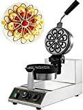 WantJoin Commerical Waffle Maker Nonstick Electric Rotated Muffin Machine Stainless Steel...
