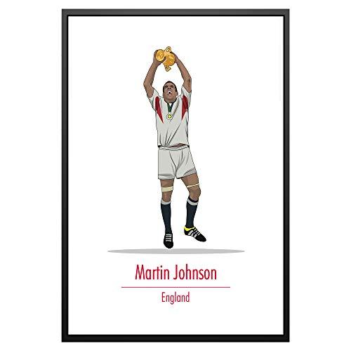 Poster, Motiv: Legendary Signings Martin Johnson England Rugby