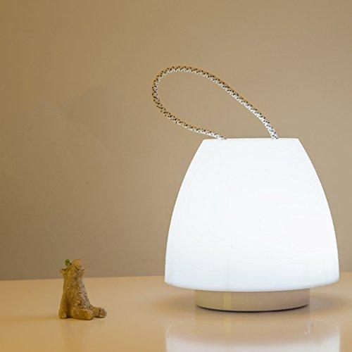 Veilleuses Lampes et éclairage Veilleuse portative, LED lampe en plastique de mignonne, lumières de chevet d'enfants, lumière chaude, lumière blanche, rechargeable d'USB, lumière de fée pour la chambr