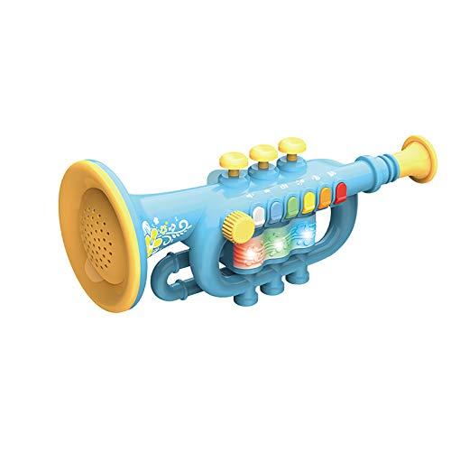 Saxophon Frühkindliche Bildung Kinderspielzeug zum Spielen von Musik, Licht, Acht-Noten-Saxophon, Klarinette, Trompete, Simulationsinstrument