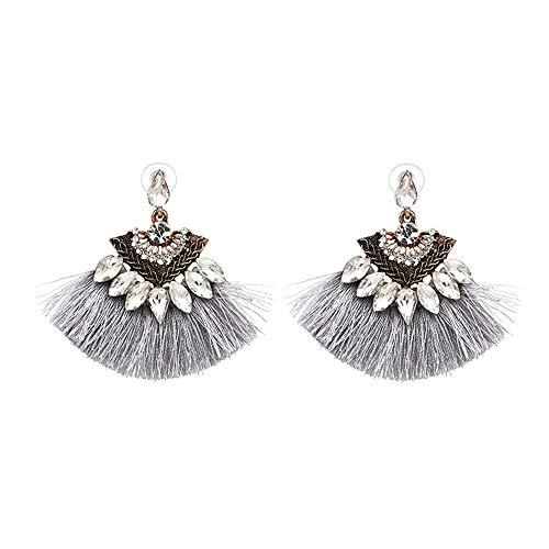 Women Ethnic Vintage Drop Earrings Long Fringe Earrings Boho Jewelry Tassel Earrings LE8 onesize