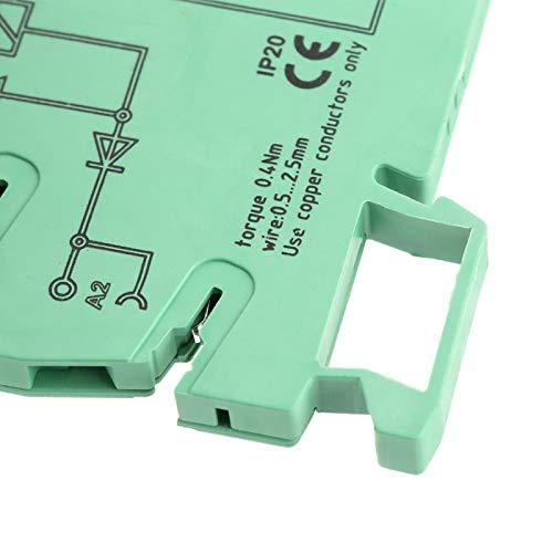 Relé electromagnético de entrada 220 V CC relé PLC relé de interfaz de resistencia al impacto para actuadores PLC