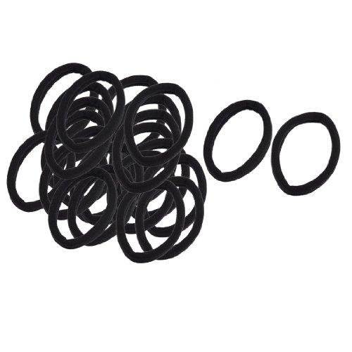 Sourcingmap 12 Paires Noir Bande Élastique Attache De Cheveux Élastiques