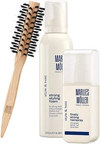 MARLIES MÖLLER Geschenkset Style & Hold (Styling Foam, Hairspray und brush), 1er Pack (1 x 1 Stück)