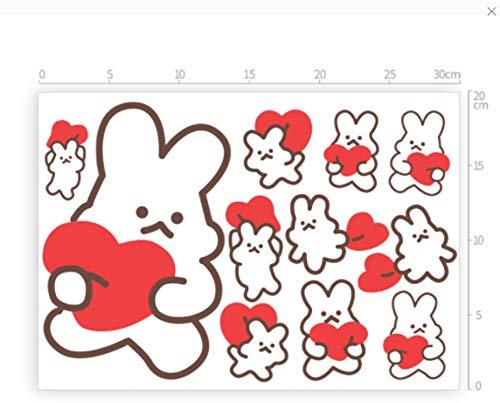 YUHANG Super Lindo Creativo Lindo Conejito decoración del Coche Pegatinas rasguños corporales bloqueando Pegatinas Mini Amor Pegatinas Impermeables