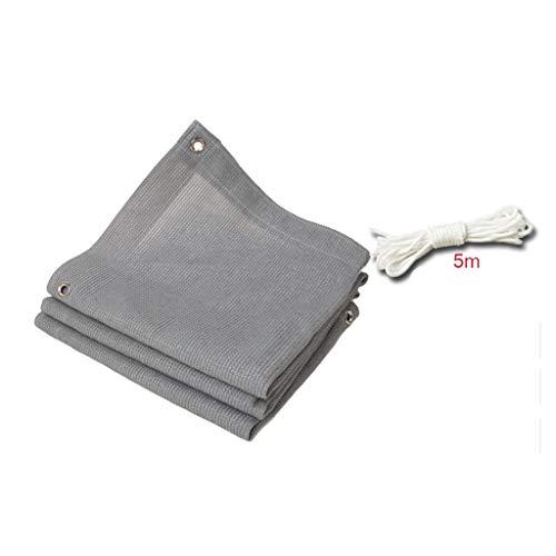 QFFL Malla Sombreo Resistente A Los Rayos UV, Aislamiento Térmico, Transpirable, Tasa de Sombra 90%, Gris, 18 Tamaños Disponibles (Size : 2x4m/7x13ft)