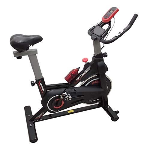 FFitness Indoor Spinning Bike Cycling Bicicletta per Allenamento in Casa con Porta Smartphone, Cardio e Volano 6kg, nero