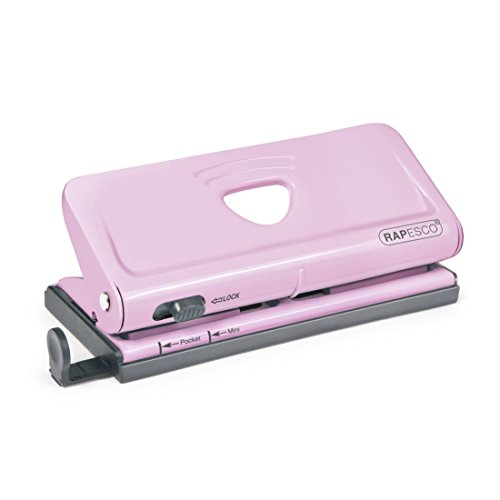 Rapesco Adjustable 6Hole punch for Planners and 6Ring Binders  Pink