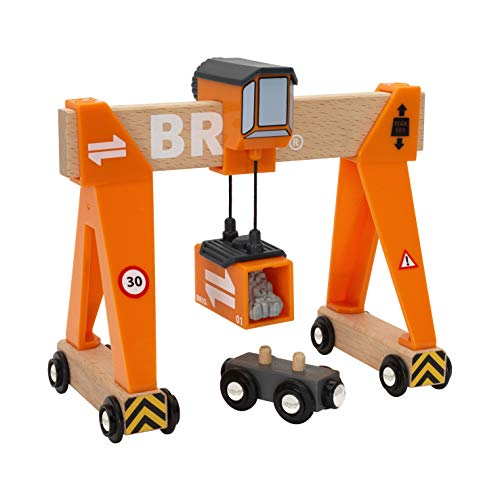 BRIO World - 33732 Gantry Crane | 4 Piece Gantry Crane Toy for Kids Ages 3 and Up