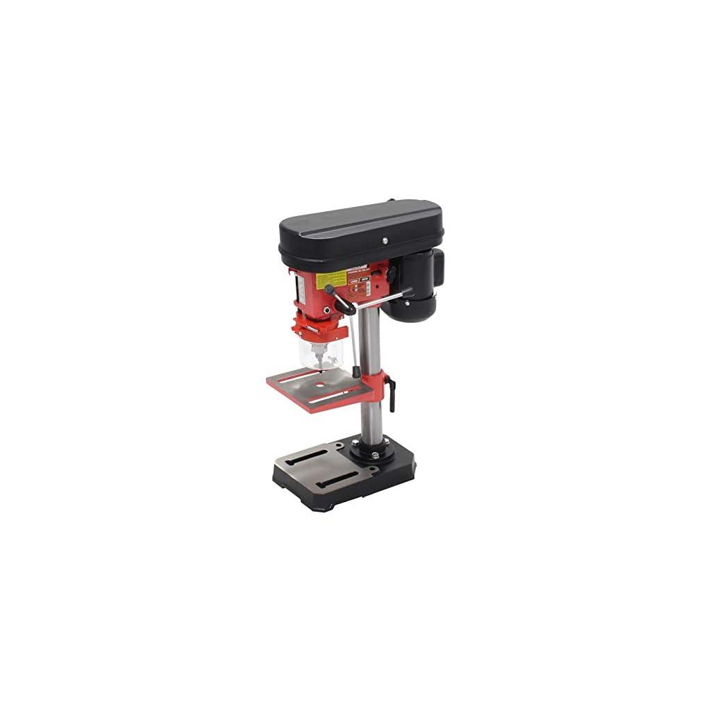 Mader Power Tools 63151 Perceuse à colonne 350 W 13 mm, vitesse variable, précision de fumée