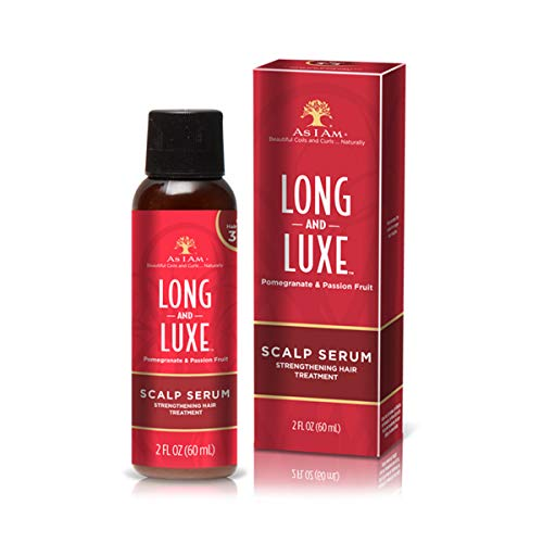 As I Am Long and Luxe Scalp Serum - 2 Ounce - Strengthening Nano Treatment - Enriched with Biotin, Aloe Vera, and Saw Palmetto