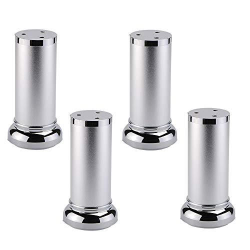 4 Stück Möbelbein, Verstellbare Beine Schrankbeine Tischbeine, Rund, Leicht Zu Reinigen Und Zu Pflegen