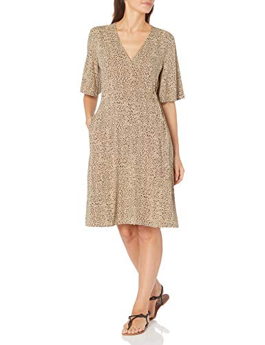 Amazon Essentials Kimono Vestido Envolvente de Manga Dresses, Leopardo Mini, US XXL (EU 3XL-4XL)