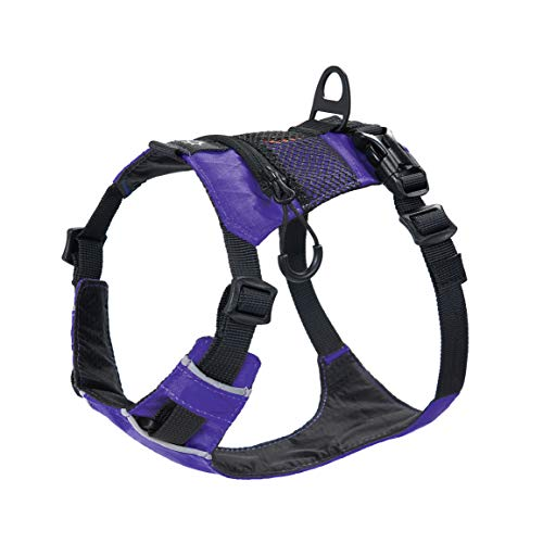 HOWGO Dog Harness,4 Point Adjustable Lightweight Waterproof&Odor-Proof Dog Harness with Leash Clip,No-Choke,Reflective with Storage Pocket for Training and Walking,Hunting(Violet, Small)