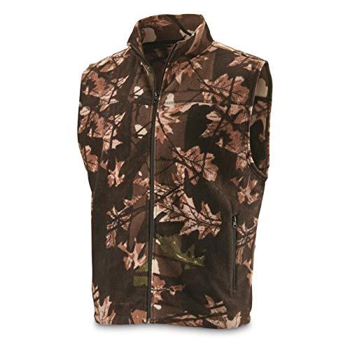 Cheap HUNTRITE Men's Fleece Hunting Vest, Camo, Large