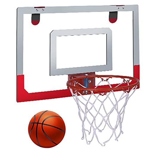 NXLWXN Canasta Baloncesto para Interior Mini Aro Baloncesto Montado Pared, Baloncesto Portátil Aire Libre con Bola Estándar N. ° 3, Juguetes Baloncesto