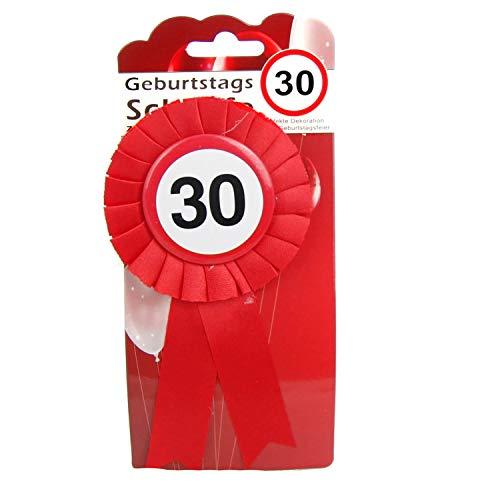 Top Ten Geburtstags - Schleife 30 Button inkl. Sicherheitsnadel Abzeichen zum anstecken oder Dekoration Party