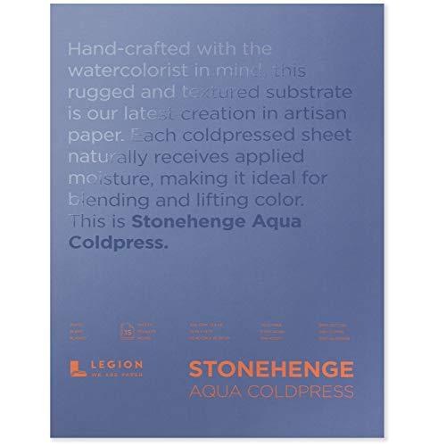 Stonehenge L21-SQC140WH1014 Aquamarin, Weiß 140 lb, 10 x 14
