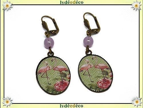 Ohrringe exotisches Harz Flamingos rosa grün weiß Schmetterling lila Messing personalisierte Geschenke Weihnachts Hochzeit Freunde Geburtstag Gäste Heilige Herrin Muttertag Paar Ihnen