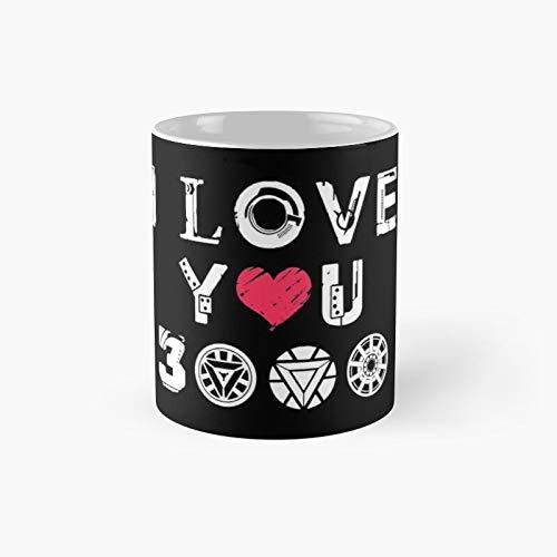 Taza clásica I Love You 3k V2 | El mejor regalo divertidas tazas de café de 11 oz