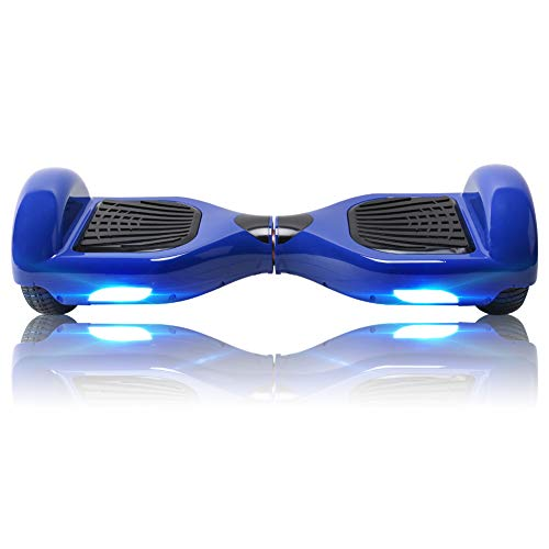 BEBK Hoverboard Enfant 6,5 Pouces Overboard pour Adulte, Hover Board Auto-Équilibrage Skateboard 2x350W Moteurs, LED Lights Self Balance Scooter