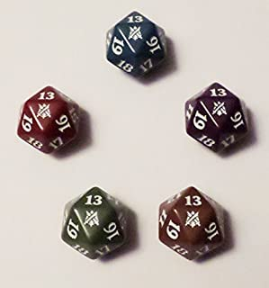 Magic: The Gathering 5 x Khans of Tarkir Spindown Life Counter All Clans - Dice