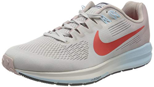 Nike Nike Damen Air Zoom Structure 21 Laufschuhe, Grau (Vast Grey/Elemental Rose/Cobalt Tint/Habanero Red 006), 38.5 EU