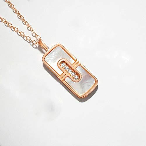 CVBGH Perlmutt Lippenstift Damen Halskette 925 Sterling Silber Temperament Einfache Schlüsselbeinkette