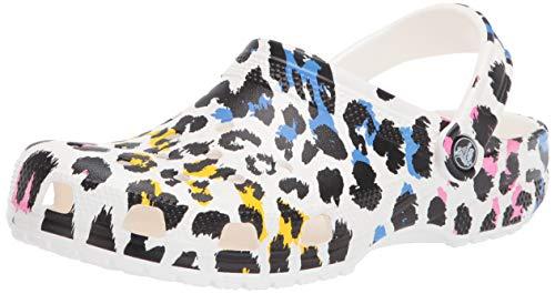 Crocs Unisex Classic Animal Print Clog | Zebra Shoes Multi/Leopard 10 US Men