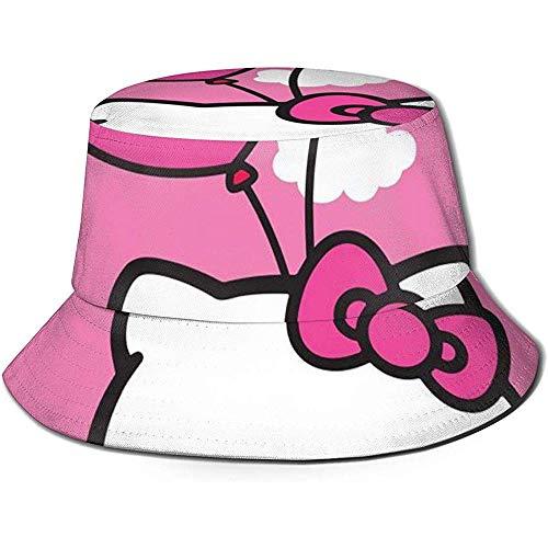 Emmer Hoed Hello Kitty Ballon Rose Gedrukt Verpakbare Zomer Outdoor Cap Zon Vissen Boonie Hoeden