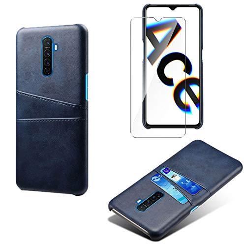 LJSM Hülle für Oppo Realme X2 Pro + Transparent Panzerglas Bildschirmschutzfolie Schutzfolie - PC + PU Schutzhülle Tasche Hülle für Oppo Realme X2 Pro (6.5