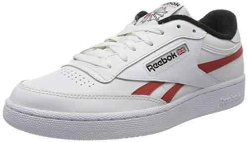 Reebok Herren Club C Revenge Mu Gymnastics Shoe, White/Black/Legacy Red, 46 EU