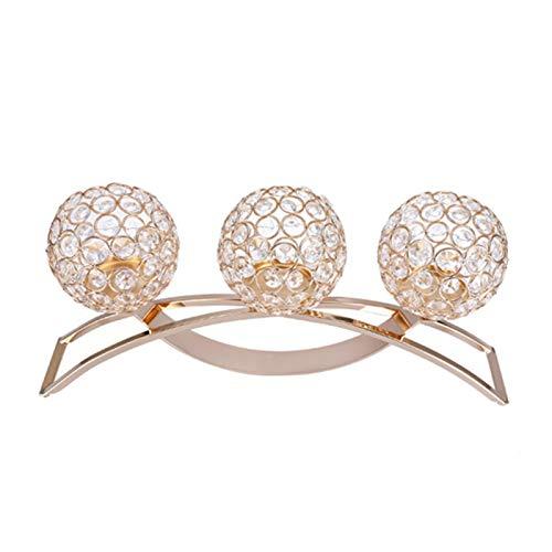Candelabro clásico de bola de cristal para restaurante para decoración del hogar(Silver)