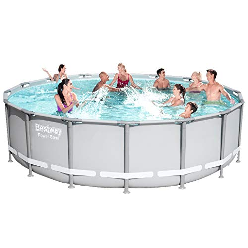 Bestway 13429 Power Steel Swimming Pool, 16' x 48""