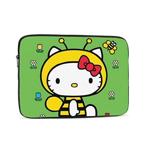 Laptop Sleeve Case- Multi Size Hello Kitty Bee Notebook Computer Protective Bag Tablet Briefcase Carrying Bag,15 Inch