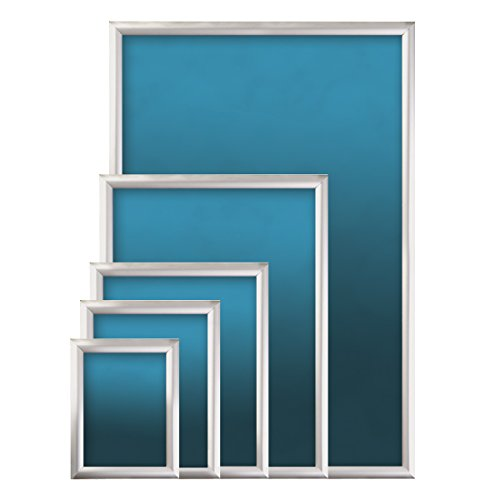 SECO Front Load Easy Open Snap Frame  Poster/Picture Frame 11 x 17 Inches, Silver Metal Frame (SN1117-SV) Photo #4