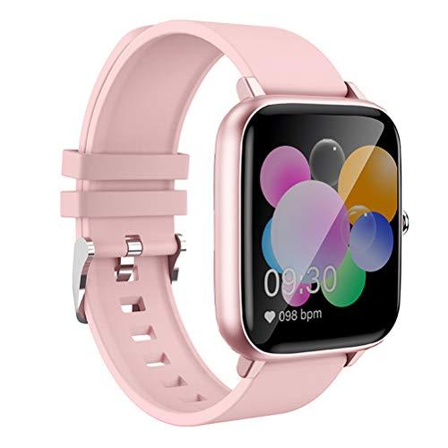 P6 Smartwatch, IP68 Reloj Inteligente De Salud De Pantalla Grande Totalmente Táctil A Prueba De Agua Con Monitorización Del Sueño Del Ritmo Cardíaco Deportivo Y Función De Llamada Bluetooth,Rosado