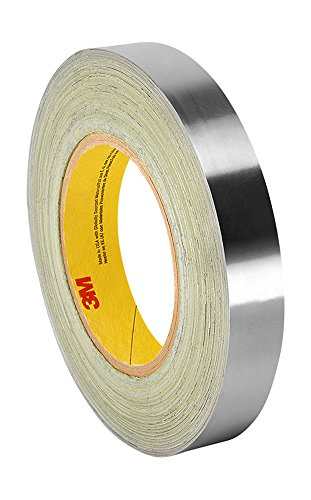 """3M 3380 1"""" x 60yd Silver Aluminum Foil Tape, -30 to 260 Degrees F, 0.0033"""" Thickness, 60 yd Length, 1"""" Width"""
