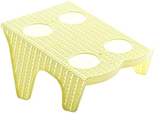 HGERFXC Portascarpe in plastica Organizzatore per ripiano per Scarpe Spazio per riporre Le Scarpe - Singolo-Albicocca, Come descritto