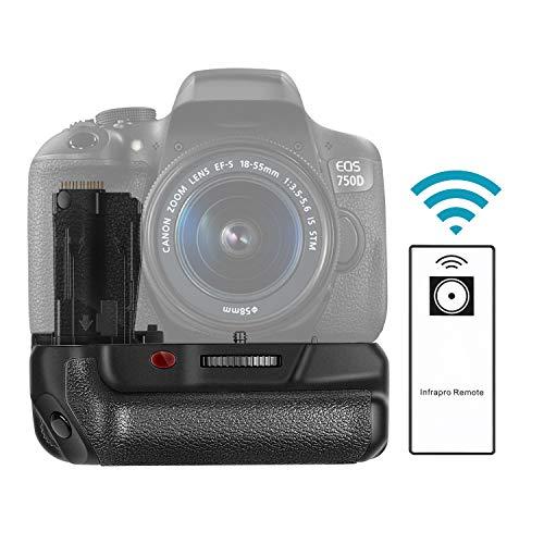 Neewer® 760D Pro Batteriegriff Akkugriff Battery Grip wie der BG-E18 mit LCD Display 2.4GHz dratlos Wireless Fernbedienung Fernauslöser für Canon EOS 750D/T6i, 760D/T6s