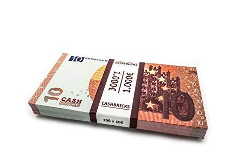 Cashbricks® 100 x €10 Euro Dinero de Juguete