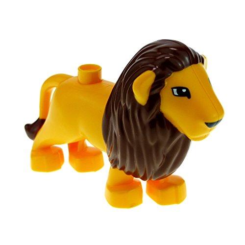 1 x Lego Duplo Tier Löwe orange gelb mit Mähne braun groß Raubkatze Safari Zoo Zirkus groß Katze 4325
