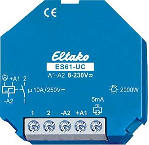Preisvergleich Produktbild Eltako Stromstoßschalter ES61-UC 8-230VUC, 1S, 16A Stromstoßschalter 4010312107966