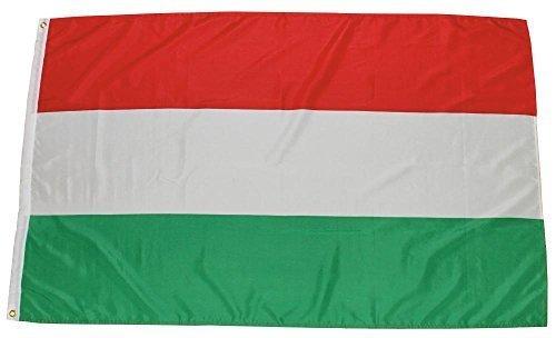 MFH Fahne 90x150 cm Länderflagge WM EM Hissflagge Nationalfahne Deutschlandfahne (Ungarn)