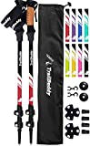 TrailBuddy Lightweight Trekking Poles - 2-pc Pack Adjustable Hiking or Walking Sticks - Strong...