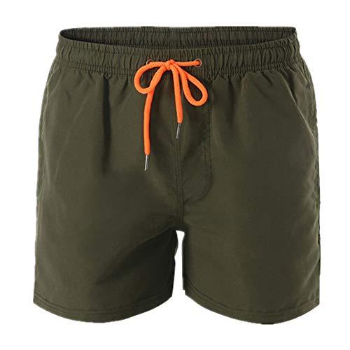 N\P Pantalones de playa de los hombres pantalones cortos de verano de surf pantalones de los hombres pantalones de playa de color sólido de los hombres grandes